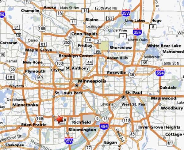 Minneapolis Metro Map